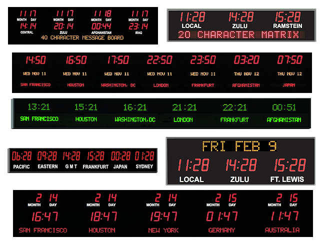 LED Clocks, LED Timers, LED Counters