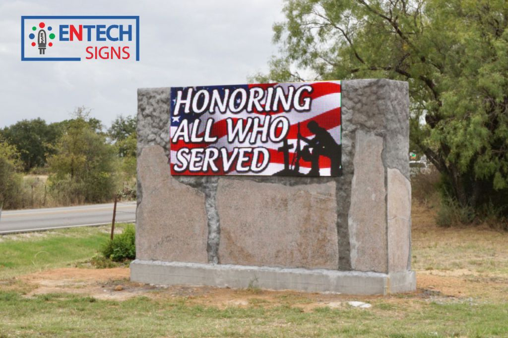 Honor Military Veterans and Show Appreciation with Messages of Thanks on a LED Sign!