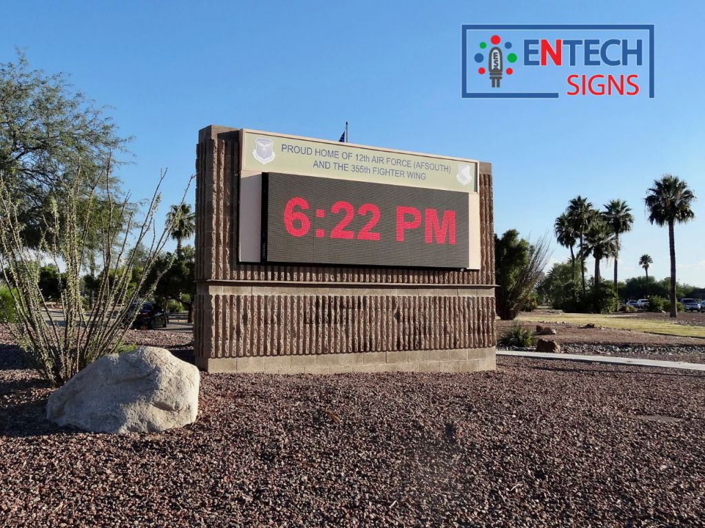 Keep your Airforce Personnel Motivated and Informed with a Digital LED Sign!