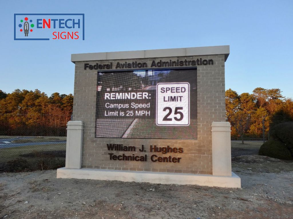 LED Signs Improves Safety by Reminding Drivers of the Campus Speed Limit!