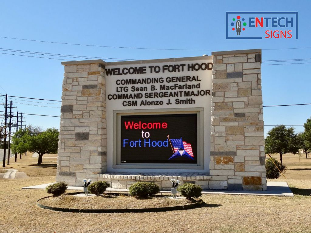 LED Signs Attract Attention and Become a Important Landmark on Base!