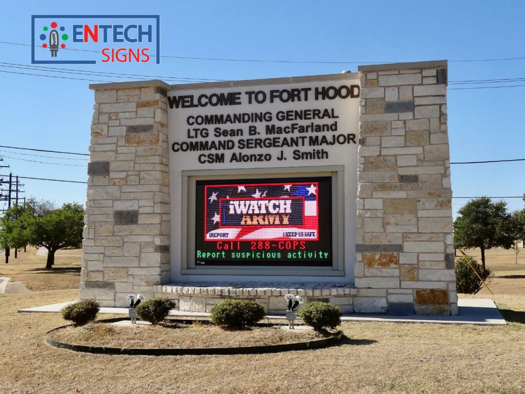 LED Signs for Army Bases Greet Employees and Visitors!