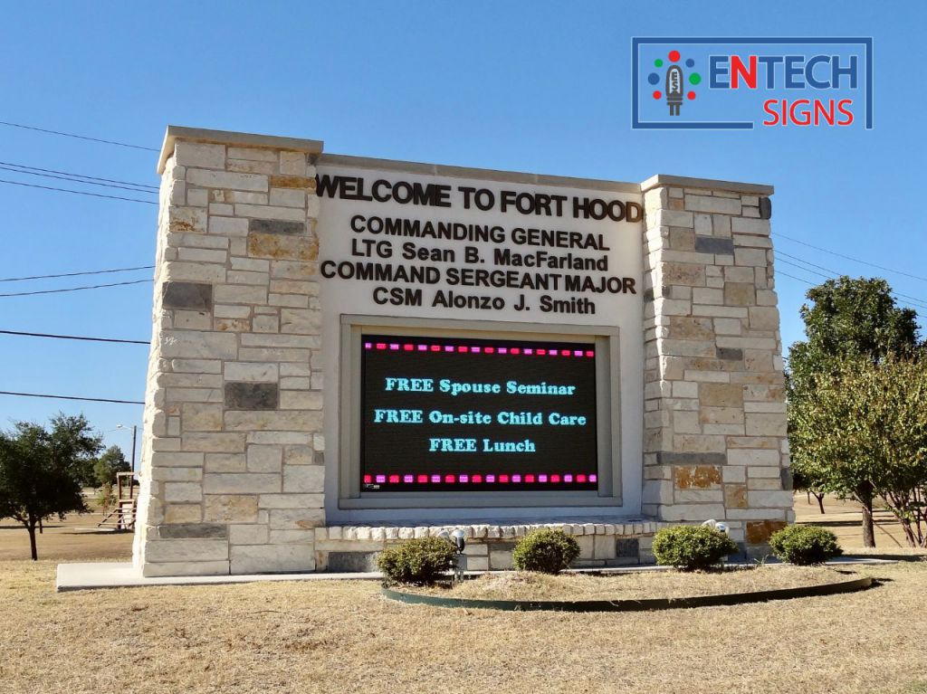 LED Signs Promote Family Events, Gatherings and Other Wellness Programs to Keep Your Soldiers Motivated!