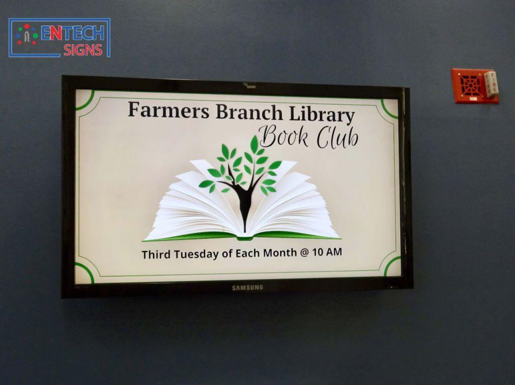Indoor LED Signage for Libraries