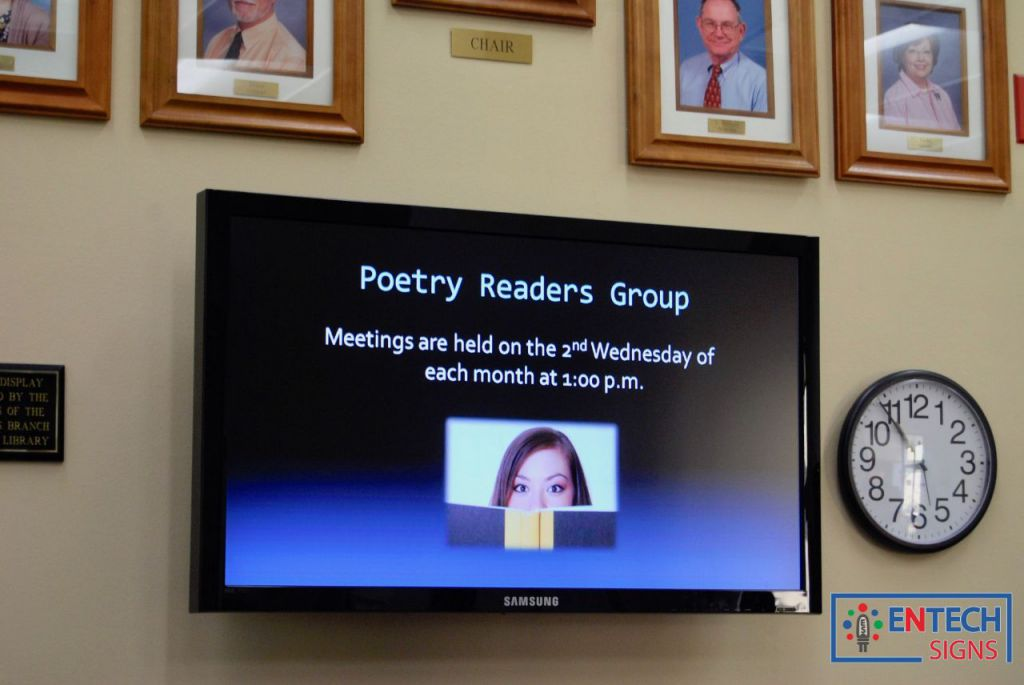 Indoor LCD Signs for Libraries