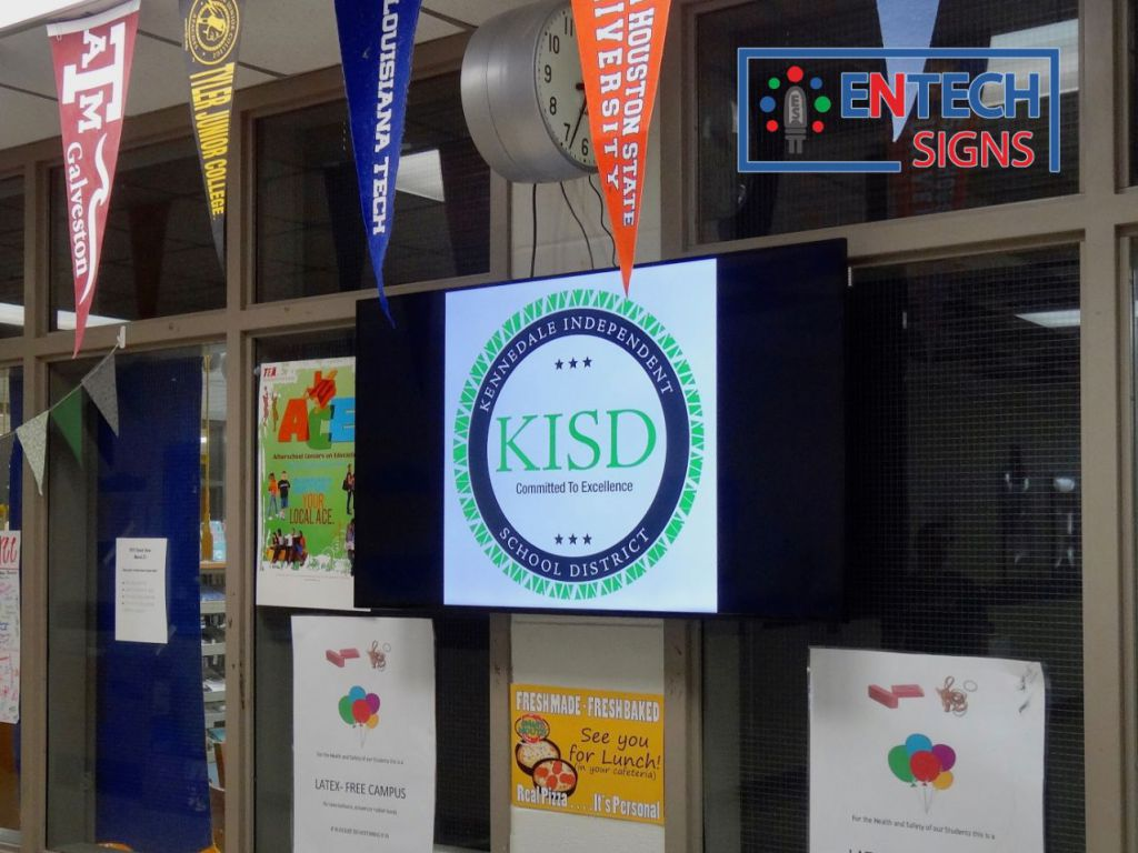 Indoor LED Sign for School Entrances