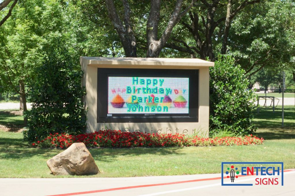 Make Kids feel special with Personal Birthday messages on a LED Sign!