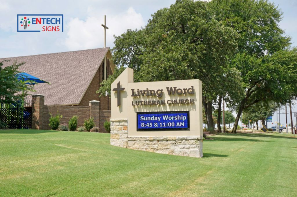 Promote Sermon Times, Holidays, Events, and More with a Church LED Sign!
