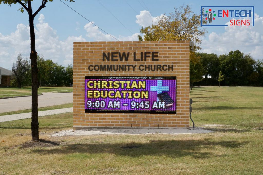 Outreach to your community and grow your church with a LED Sign!