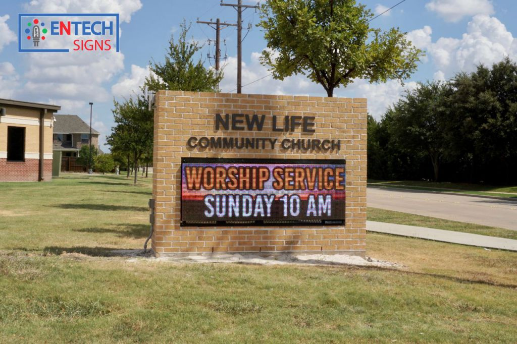 Church LED Signs Promote Sermon Times and Help Attract New Members!