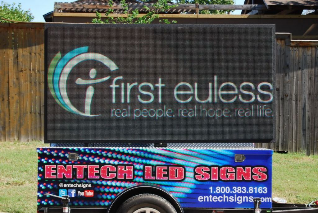 Entech Signs LED Sign Trailer
